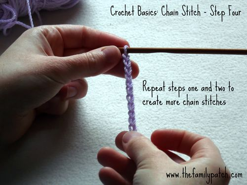 Family Patch Tutorial Chain Stitch Step Four