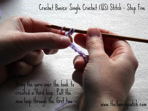 Family Patch Tutorial Single Crochet Step Five