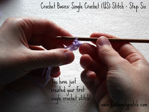 Family Patch Tutorial Single Crochet Step Six